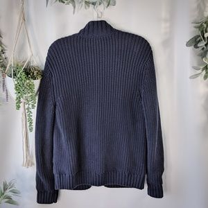 Tommy Hilfiger Sweaters - TOMMY HILFIGER NAVY BLUE CABLEKNIT CARDIGAN cts2